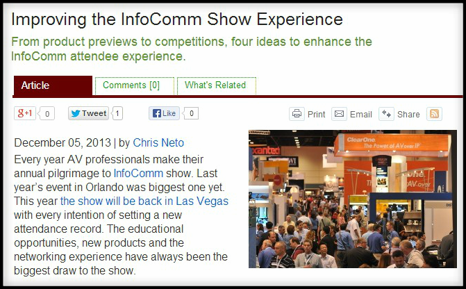 INFOCOMM Show Idea